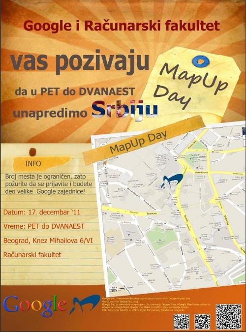 Google MapUp Day poster