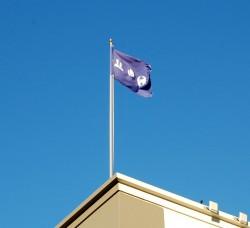 Facebook zastava dok se vijori na vetru