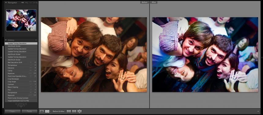 Pre i posle obrade u Lightroom-u
