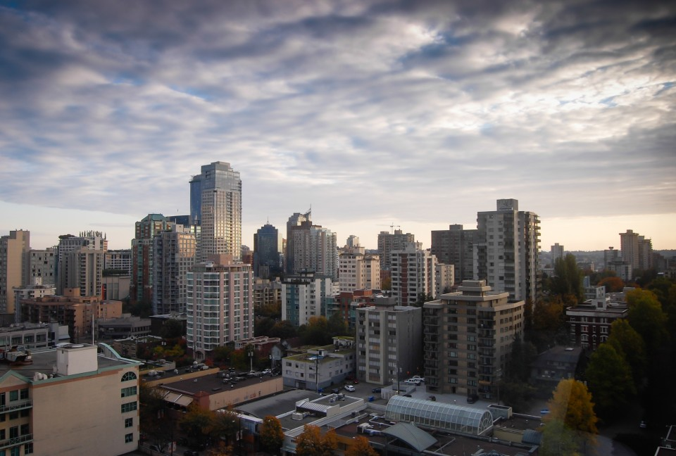 Pogled na centar Vankuvera